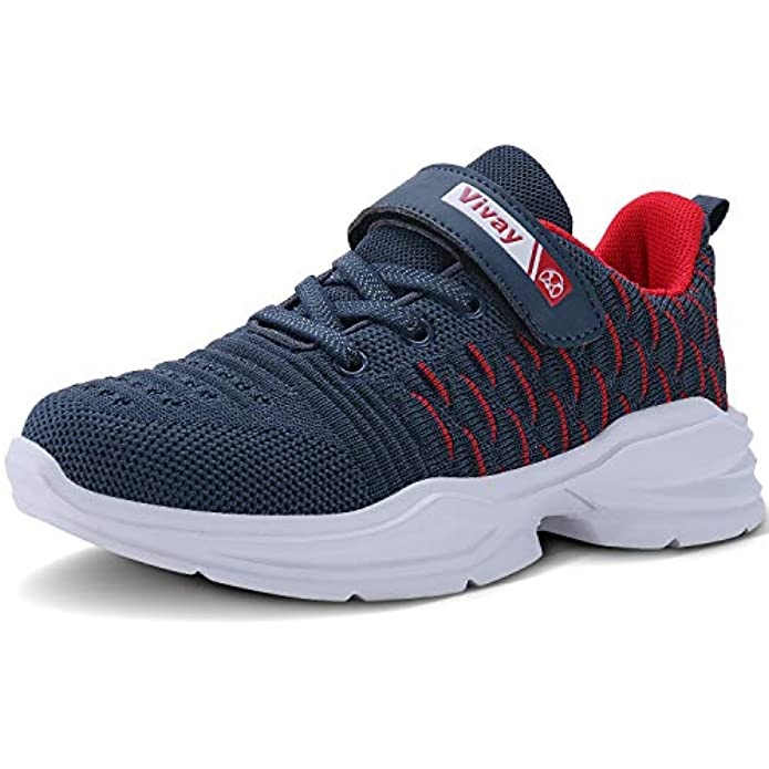 Vivay Boys Tennis Shoes Lightweight Sneakers for Girls Tennis Running Shoes for Little Kid and Big Kid