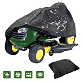 IC ICLOVER Lawn Tractor Cover, Outdoors Riding Lawn Mower Cover Fits Decks up to 44'' Made with 210D Polyester Oxford Heavy Duty Durable UV and Water Resistant All Season Protection with Drawing Cord