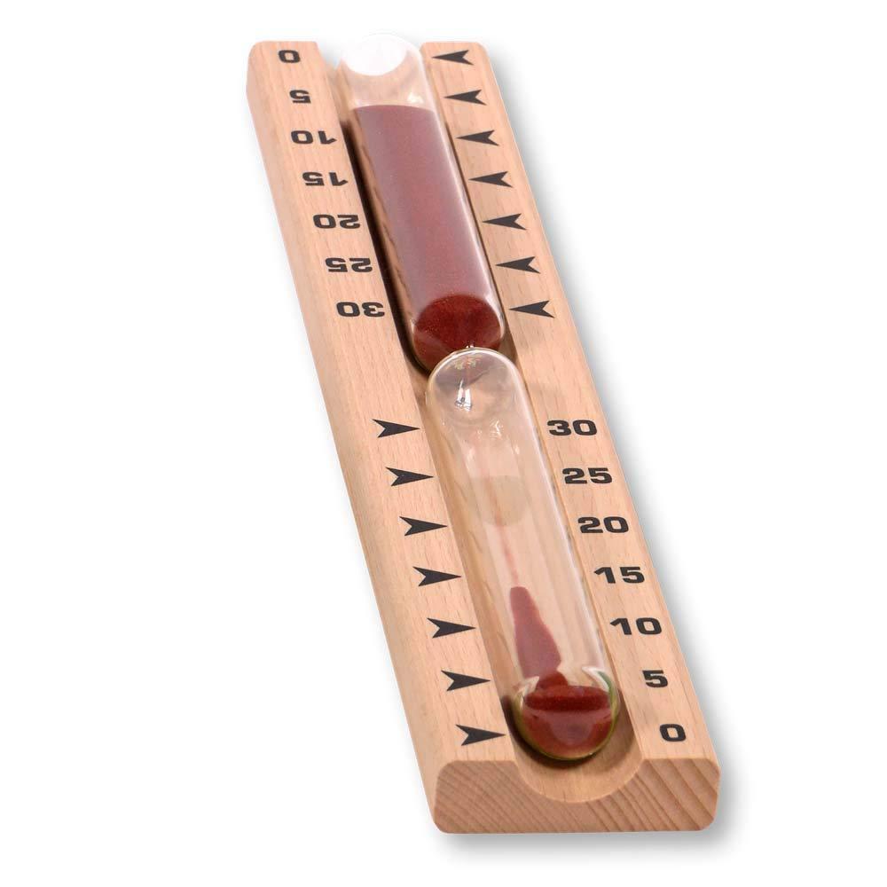 SudoreWell/® Sauna Sanduhr Exklusiv 30 Minuten mit rotem Sand