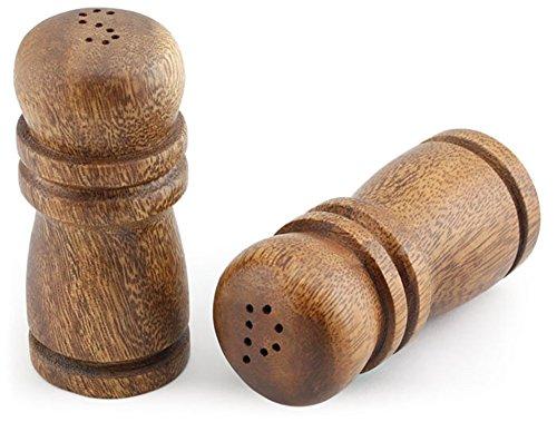 (Acacia Wood Salt & Pepper Shakers 4 inch Tall)