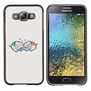 Stuss Case / Funda Carcasa protectora - Amor Pareja Relación Gris - Samsung Galaxy E5 E500