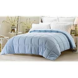 "Web Linens Inc Super Oversized - Down Alternative Comforter - Fits Pillow Top Beds - Queen 92"" x 96"" - Light Blue- Exclusively by Blowout Bedding RN #142035"
