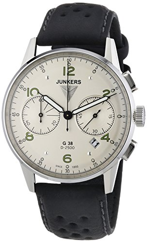 Junkers G38 Silver Dial, Quartz Chronograph with 60-Minute Timer 6984-4