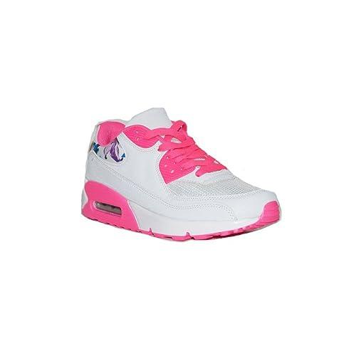 JOMIX - JOMIX Airmax Mujer D707-11A Zapatillas Deportivas Mujer Blancas/Rosa Casuales Baratas Moda Verano: Amazon.es: Zapatos y complementos