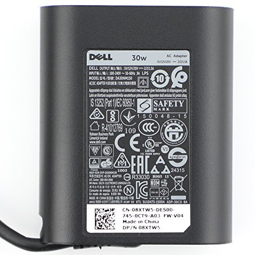 New Original Dell 30W USB-C AC Adapter, Power Supply Charger