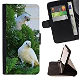 Jordan Colourful Shop - Beautiful White Cocatoo Parrot For Sony Xperia m55w Z3 Compact Mini - Leather Cover Case High Impact Absorption Case -