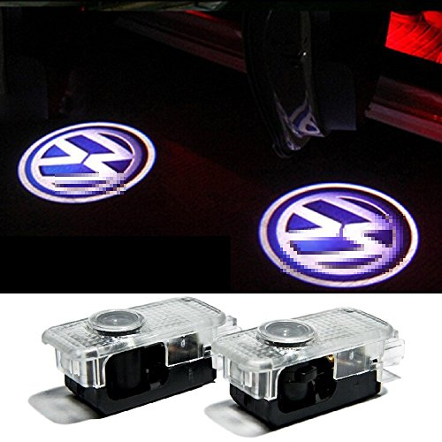 2 PCS Car Projection LED Projector Door Shadow Light Welcome Light Laser Emblem Logo Lamps Kit For Volkswagen VW Passat B5 B5.5 Phaeton