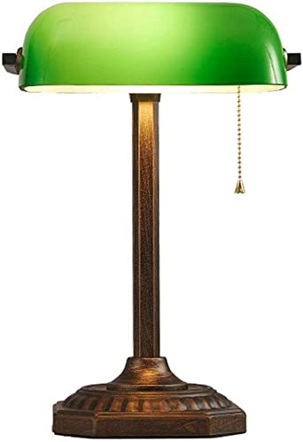 Lámpara de Mesa Verde Con Interruptor de Extracción, Lámpara de ...