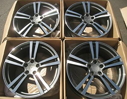 "21"" Turbo II Style Wheels Set For Porsche Cayenne 21 X 10 "" Front"