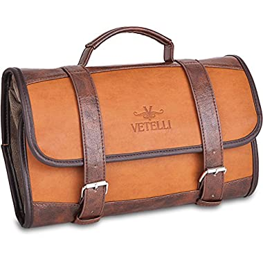 Vetelli Hanging Toiletry Bag for Men – Dopp Kit / Travel Accessories Bag