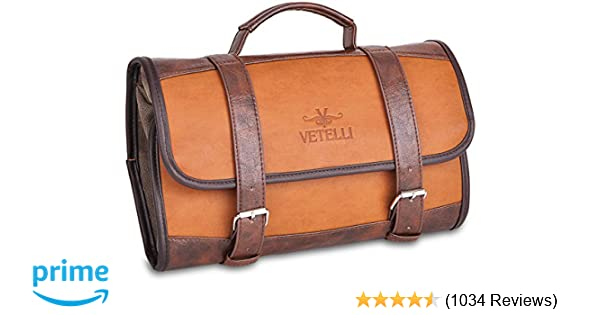 b34fd75a7b1c Amazon.com  Vetelli Hanging Toiletry Bag for Men - Dopp Kit Travel  Accessories Bag Great Gift  LSB-Products