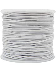 Cordones elásticos redondos blanco/negro, cuerda elástica para abalorios, costura, manualidades -1 rollo, de Vap26.