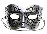 Success Creations Volt Silver Hand-Painted Masquerade Mask
