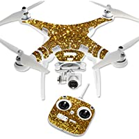 Skin For DJI Phantom 3 Standard – Gold Dazzle | MightySkins Protective, Durable, and Unique Vinyl Decal wrap cover | Easy To Apply, Remove, and Change Styles | Made in the USA