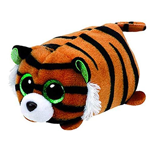 - JEWH TY Beanie Boo Teeny - Plush White Owl, Pig, Monkey ,Fox, Husky, Crocodile, Dog, Unicorn - Big Eyes Dog Plush Toy Doll Baby Kid Gift (9cm ) ( Tiger)