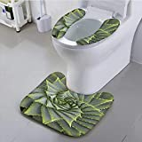 UHOO2018 Toilet seat Cushion Aloe Vera Plant Full Frame Machine-Washable