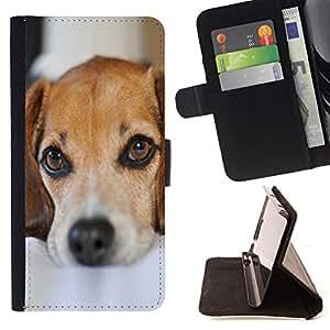 BullDog Case - FOR/Samsung Galaxy S3 Mini I8190Samsung Galaxy S3 Mini I8190 / - / cute puppy dog pet mutt mongrel sad /- Monedero de cuero de la PU Llevar cubierta de la caja con el ID Credit Card Slots Flip funda de cuer