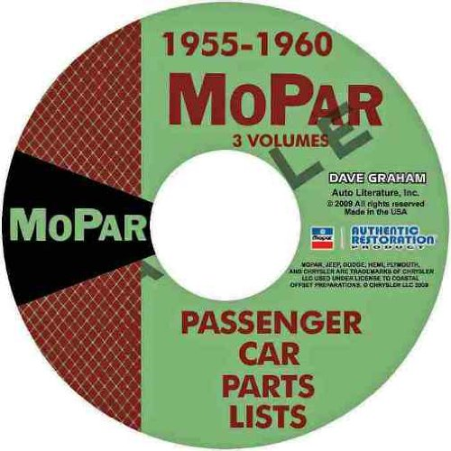 DODGE CARS MOPAR MASTER PARTS CATALOG GUIDE CD 1955 1956 1957 1958 1959 1960