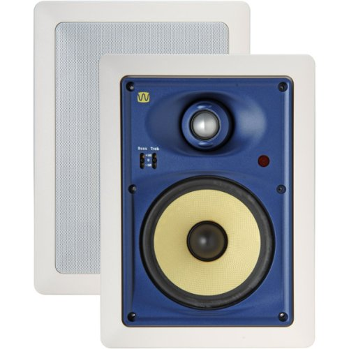 - M&S Systems WG150W 8- Inch WAVEGUIDE Series in-Wall Speakers