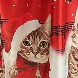Christmas Womens Dress, IEason Women Long Sleeve Christmas Cats Musical Notes Print Vintage Flare Dress