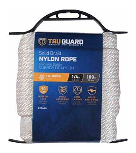 MIBRO Group (The) 642201 Braided Nylon TG 1/4x100 WHT NYL Rope ()