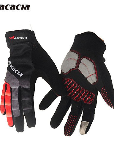 ZWC Winter Cycling Gloves All Suspension Slippery Mountain Bike Gloves Gloves Touch Goves for Men and Women 03944 , black+green