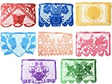 Grahmart Festive Large Plastic Mexican Papel Picado Banner (16 Feet Long) Designs as Pictured