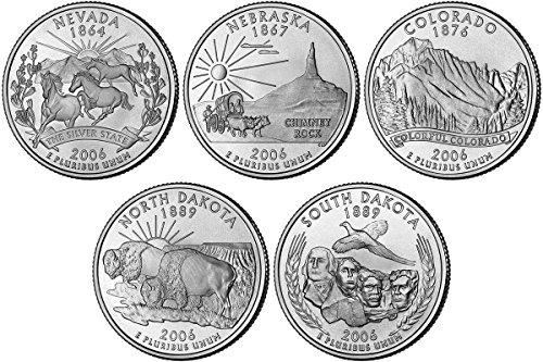 2006 P, D BU Statehood Quarters - 10 coin Set Uncirculated ()