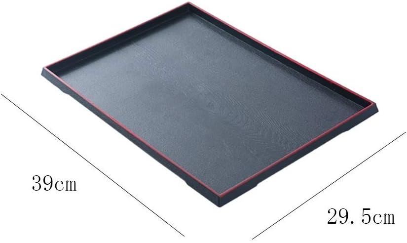 Mati/ère plastique multifonctionnelle r/ésistante au plateau de service de restauration de plateau de petit-d/éjeuner noir Plateau rectangulaire Size : 32 * 23cm