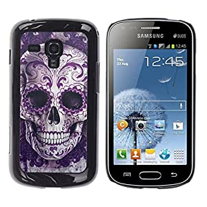 LOVE FOR Samsung Galaxy S Duos S7562 Rock Roll Skull Bling Floral Death Metal Personalized Design Custom DIY Case Cover