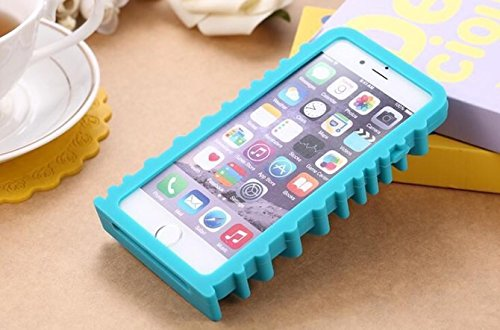 LUXURY FASHION SOFT SILICONE PHONE CASE FOR APPLE iPhone 6 & iPhone 6 Plus (Blue MOS (iPhone 6))