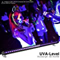 Onforu 72W UV LED Black Light Bar, 5ft Power Cord with US Plug and Switch, Glow in The Dark Party Supplies for Stage Lighting, Halloween, Body Paint, Fluorescent Poster, Birthday Wedding Party