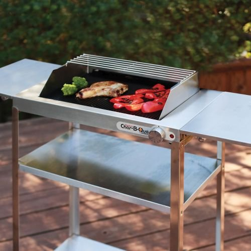 Stainless steel Rollabout cart with side shelves by Maverick