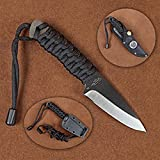 Stone River GearBlack Ceramic Neck Knife with Kydex Sheath and Bonus Nylon Belt Sheath