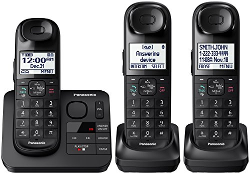 Panasonic Black Expandable Digital Cordless Phone with 3 Han
