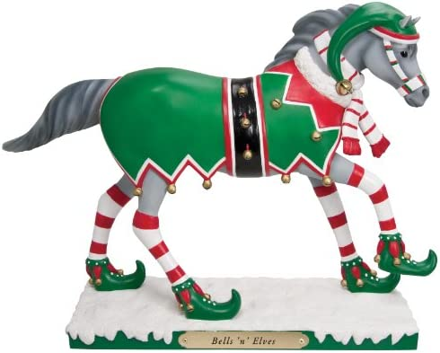 Enesco Trail of Painted Ponies Bells n Elves Figurine, 6.5-Inch