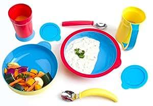 Sha Design Eatwell Assistive Tableware Set, 8 Piece