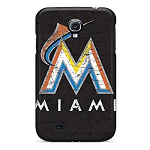 PhilHolmes Samsung Galaxy S4 Shockproof Hard Cell-phone Case Customized Realistic Miami Marlins Pictures [CHG374hqhH]