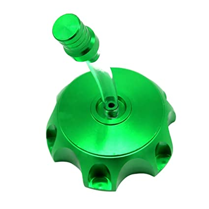 Motorcycle Gas Fuel Tank Cap Valve Vent Breather Tube Hose Red//Green