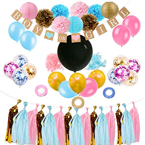 Gender Reveal Party Supplies and Baby Shower Decorations Featuring 36