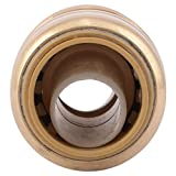 SharkBite U016LFA4 Straight Coupling Plumbing 3/4 in, PEX Fittings, Push-to-Connect, Coupler, Copper, CPVC, Brass