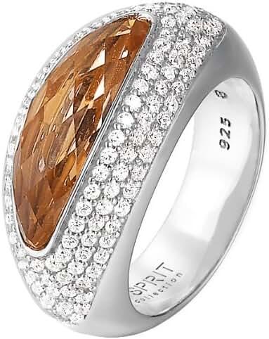 ESPRIT Women's Ring 925/1000 Silver 12.2 G Zirconium Oxide