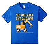 Kids Excavator Kids Shirt | Boys Toddler Excavator Dig Tee 6 Royal Blue