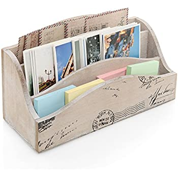 Amazon Com Wooden Mail Organizer Natural Finish