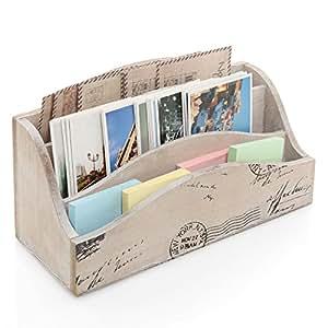 Wooden Mail Organizer Desktop with Block Calendar ...  Desktop Mail Organizer For Kitchen