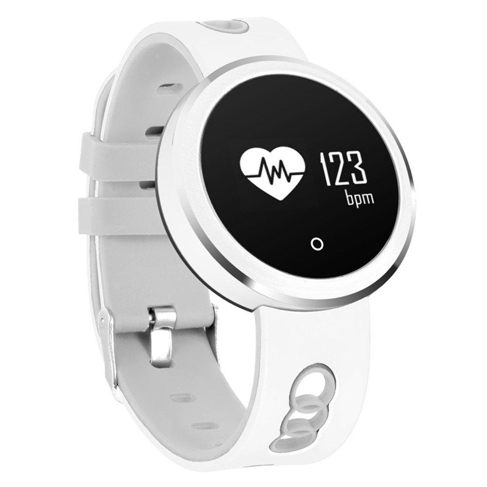 Nuevo OLED de alta definición gran pantalla limpiaparabrisas inteligente Smart pulsera detección de ritmo cardíaco mensaje recordatorio USB carga profunda ...
