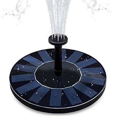 Solar Fountain Pump, Hiluckey 1.4W Bird Bath Solar Panel Kit Water Pump for Pond, Pool ,Garden Decoration