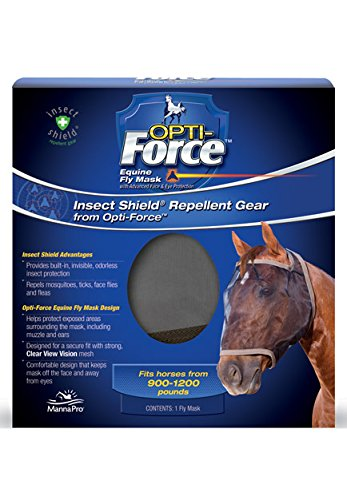 Manna Pro Insect Shield Opti-Force Fly Mask (Fly Shield)