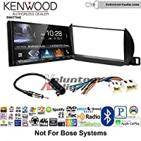 Volunteer Audio Kenwood DMX7704S Double Din Radio Install Kit with Apple CarPlay Android Auto Bluetooth Fits 2002-2004 Nissan Altima (Without Bose)