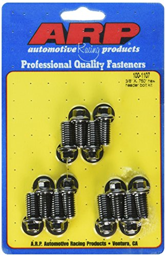 - ARP 1001107 Black Oxide 12-Point Header Bolts - Set of 12